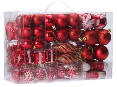Sea Team Red 72-Pack Christmas Ornaments