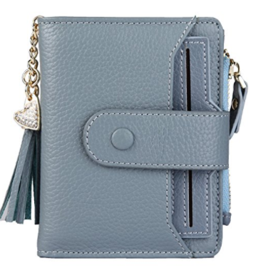5. ZORESS Women's RFID Mini Soft Leather Bifold Wallet