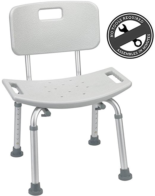 9. Medical Tool-Free Shower Chair