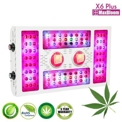 2. MaxBloom 600W LED Grow Light
