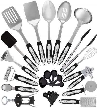 1. HomeHero 25 Piece Kitchen Utensils Set