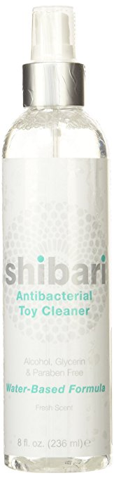 7. Shibari Antibacterial Toy Cleaner (8oz Spray Bottle)