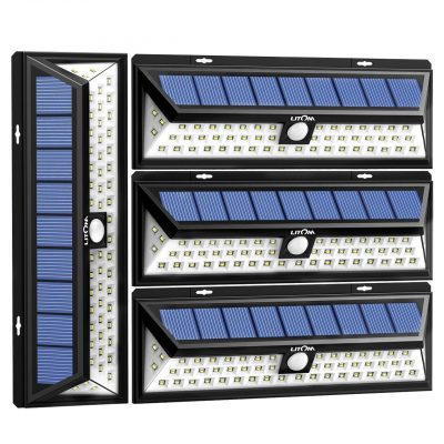 1. Litom Solar Lights Outdoor 54 LED - Best LED Yard Lights