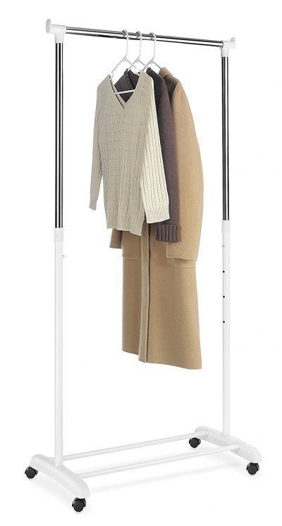 10. Whitmor Rolling Adjustable Garment Rack
