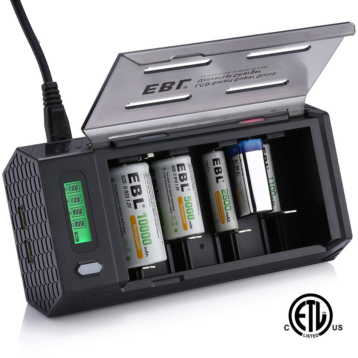 5. EBL Smart LCD Battery Charger