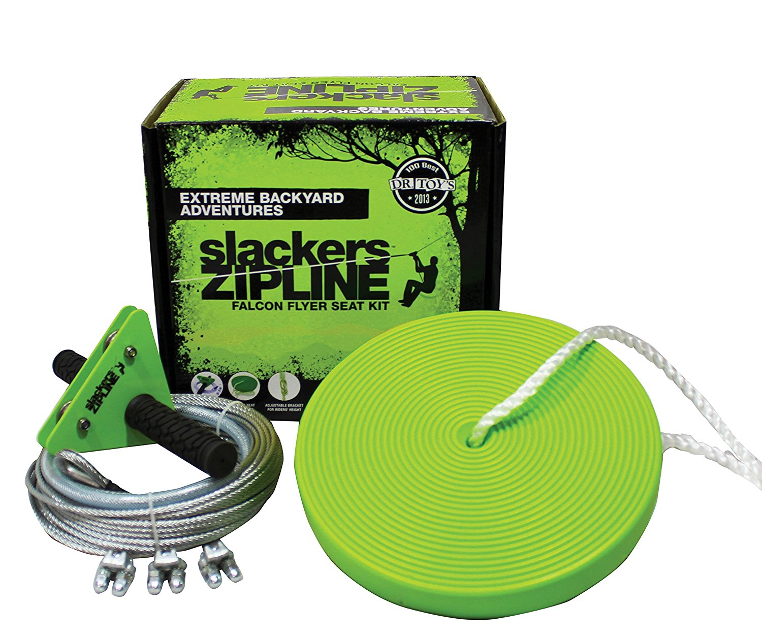 8. Slackers 40' Zipline Falcon Series Kit