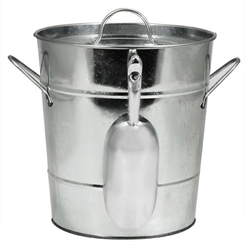9. Twine Country Home Galvanized Metal Ice Bucket