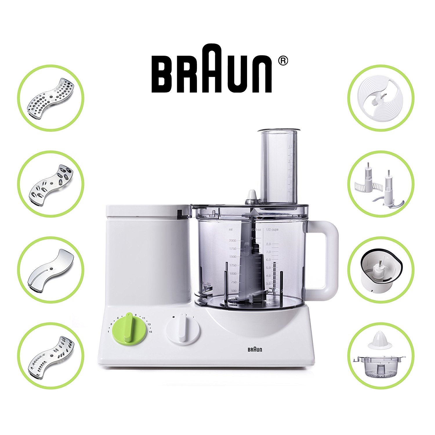 1. Braun FP3020 Food Processor