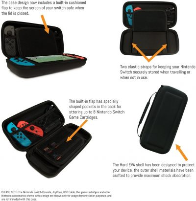 10. Orzly Carry Case Compatible with Nintendo Switch