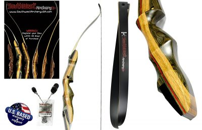 "7. Southwest Archery 64"" XL Takedown Recurve Bow and Arrow Set"