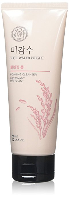 8. The Face Shop Rice Water Bright Cleansing Foam