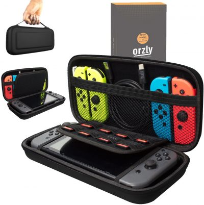8. Orzly Carry Case Compatible with Nintendo Switch