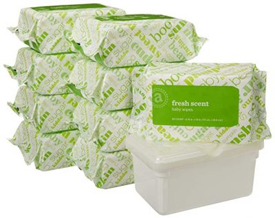 1. Amazon Elements Baby Wipes