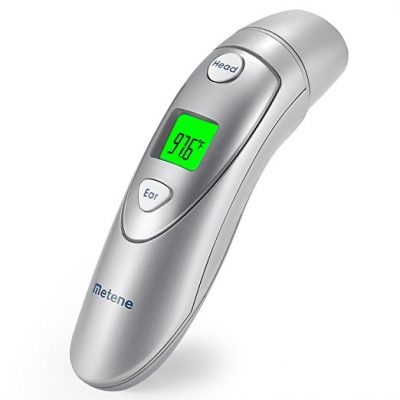8. Metene Medical Forehead and Ear Thermometer