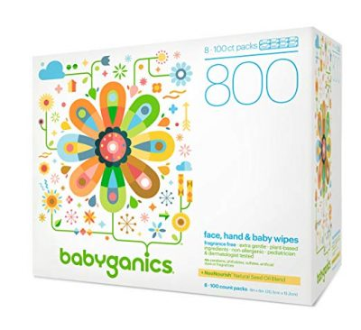 3. Babyganics Fragrance-Free Baby Wipes