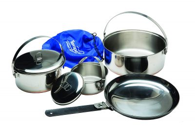 1. Texsport 6-Piece Camping Cookware