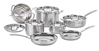 9. Cuisinart Multiclad Pro 12 Piece Cookware Set