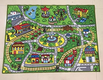 1. HUAHOO Large Kid Play Rug