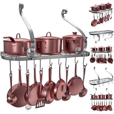 7. VDOMUS Wall Mount Pot Rack