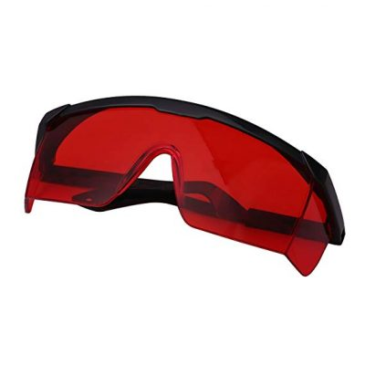 3. HDE Laser Eye Protection Safety Glasses Red