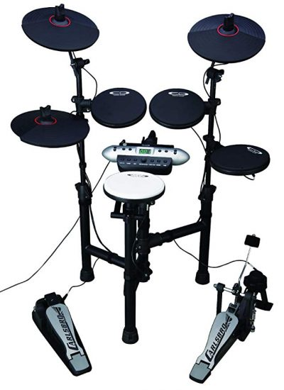 1. Carlsbro CSD130 Electronic Drum Set with Realistic Kick Pedal