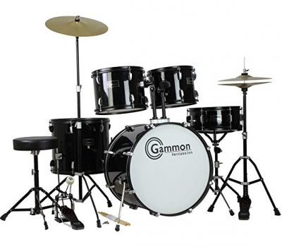 4. Gammon Percussion Full Size Complete Adult 5 Piece Drum Set