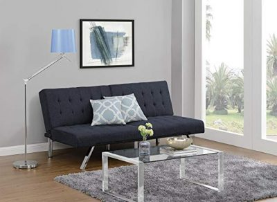 6. DHP Emily Futon Couch Bed, Navy