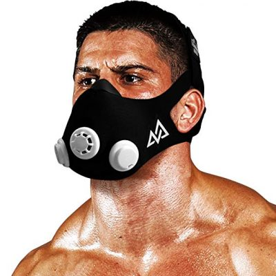6. Training Mask 2.0 Workout Mask, Black & White
