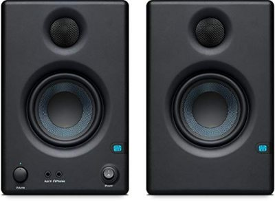 "6. PreSonus Eris E3.5-3.5"" Professional Multimedia Reference Monitors with Acoustic Tuning- Best Bluetooth Bookshelf Speakers"