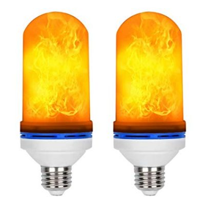 6. Loveishere LED Flame Effect Light Bulbs