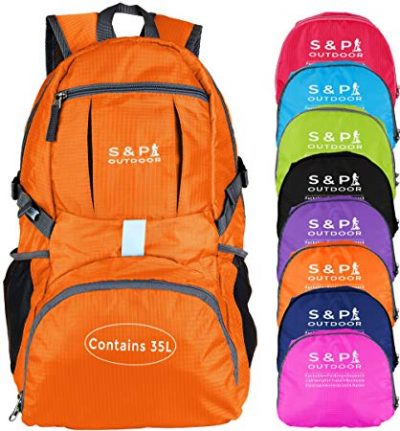 9. S & P Safe and Perfect Water Resistant Packable Backpack
