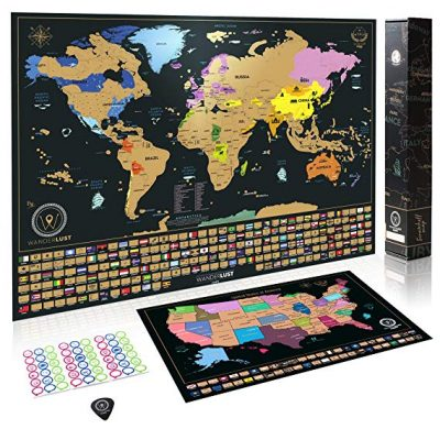10. Scratch Off World Map + Premium Scratch Off USA Map