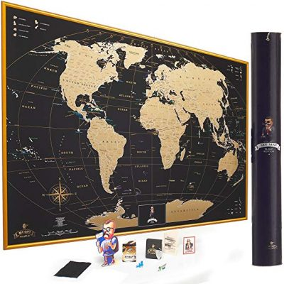 8. MyMap Gold Scratch Off World Map