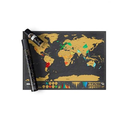 5. Scratch off Map World Poster Deluxe Edition