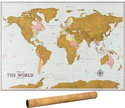 9. Scratch Off Map of the World