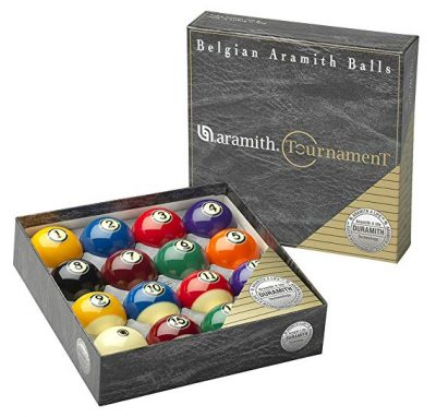 "6. Aramith 2-1/4"" Regulation Size Billiard Pool Balls, Complete 16 Ball Set Professional Quality (Tournament)"