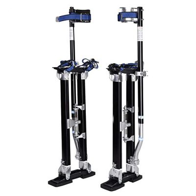 "7. GypTool Pro 15"" - 23"" Drywall Stilts - Black - Best Drywall Stilts"