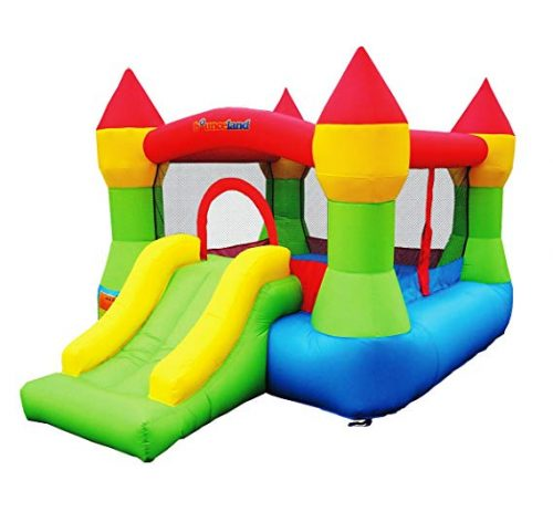 4.Inflatable Bouncer House Castle W/Hoop- Bounceland