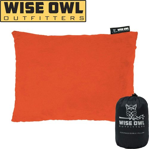 4. Wise Owl Outfitters Soft Microfiber Compressible Pillow