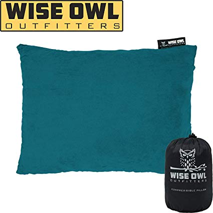 """7. Wise Owl Outfitters 9 x 6"""" Compressible Pillow"""