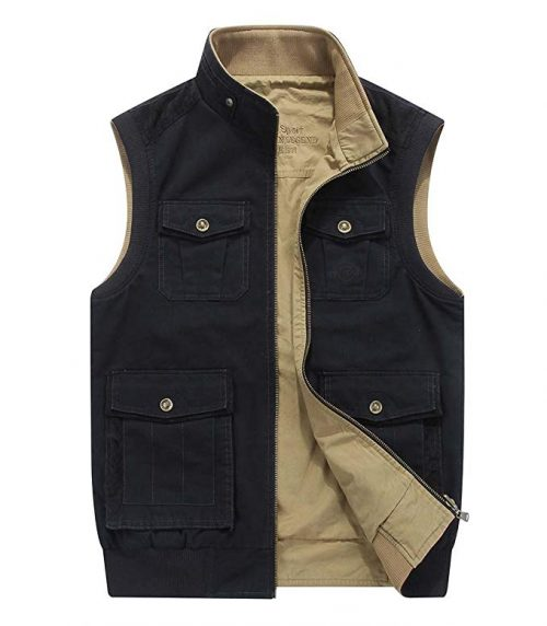 8. CRYSULLY Reversible Travel Vest