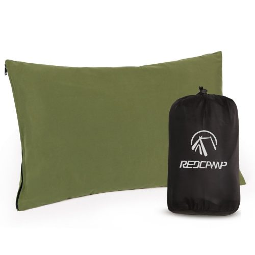 8. REDCAMP Soft Fabric Compressible Pillow