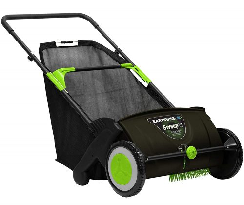1. Earthwise Push Lawn Sweeper