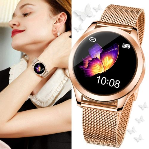 4. SmartDaily Rose Gold Smart Watch for Women