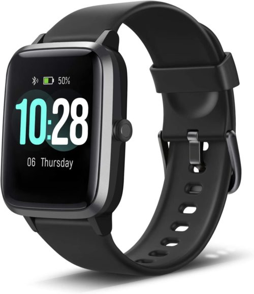 5. Anbes Smart Watch, IP68 Waterproof Fitness Tracker with Heart Rate Monitor