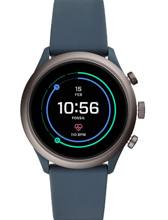 10. Fossil Men's Sport Metal and Silicone Touchscreen Smartwatch with Heart Rate