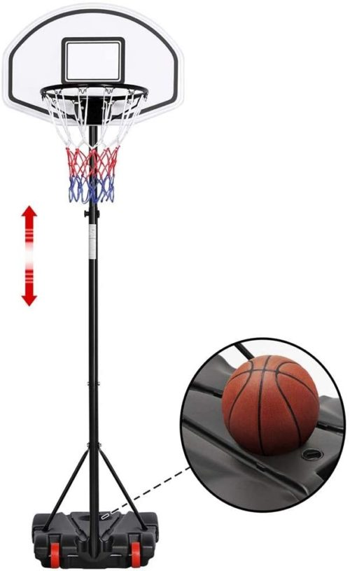 10. Yaheetech Youth Portable Basketball Hoop