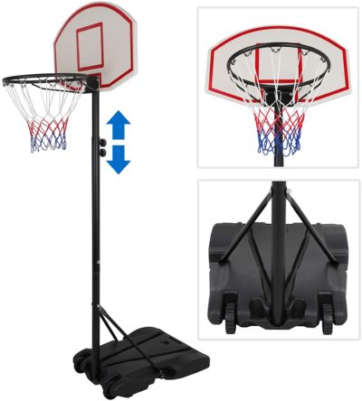 4. ZENY Portable Basketball Hoop
