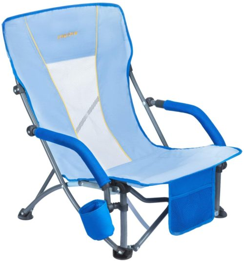 2. WEJOY Beach Chair with Drink Holder