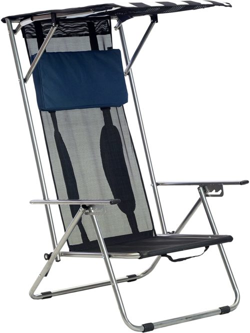 3. Quik Shade Beach Chair with Adjustable Pillow